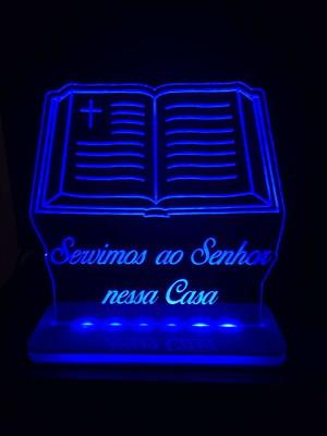 Luminária de Mesa Gospel - Servimos ao Senhor