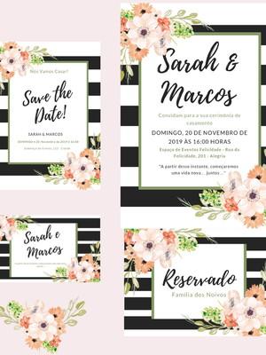 Identidade Visual Casamento Floral - Arte Digital