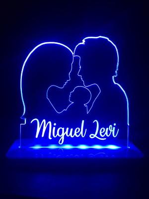 Luminária Personalizada com nome do Casal
