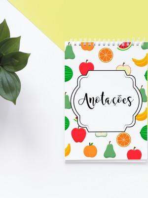 Arte Gráfica Bloco de Anotações Frutas