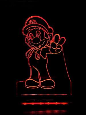 Luminária Super Mario, Luigi ou Princesa