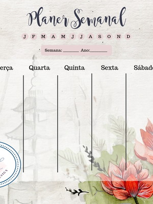 Arte Gráfica Planner Semanal Oriental
