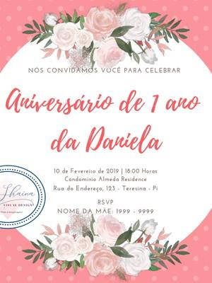 Convite Digital Aniversário 1 ano