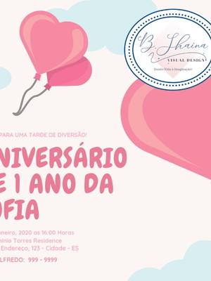 Convite Digital Balão Aniversário 1 ano