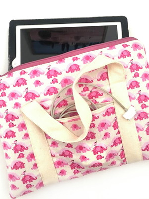 Bolsa porta tablet com bolso para carregador *