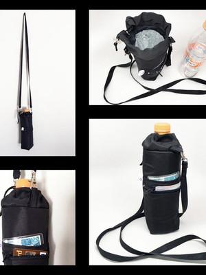 Bolsinha térmica porta garrafa com bolsinho alça tiracolo *