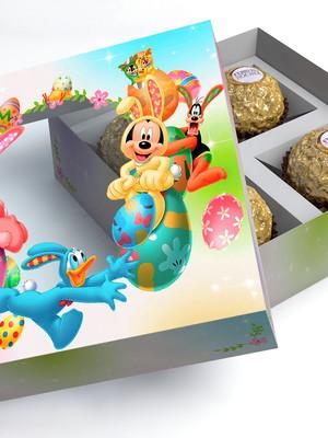 Caixa para bombons de páscoa Mickey