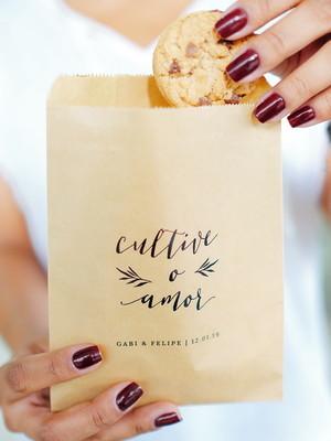 Saquinho Kraft | Personalizado 13x16 - Cultive o Amor