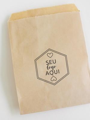 Saquinho Kraft | Personalizado Logo - 13x16 cm