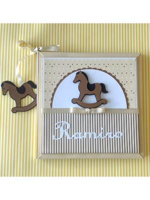 Diário Do Bebê personalizado menino Cavalo de Pau