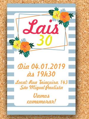 Convite aniversário Tropical - Digital