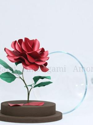 Rosa Encantada 23cm - A Bela e a Fera