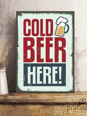 Quadro Decorativo Área de Lazer Cerveja - Cold Beer Here