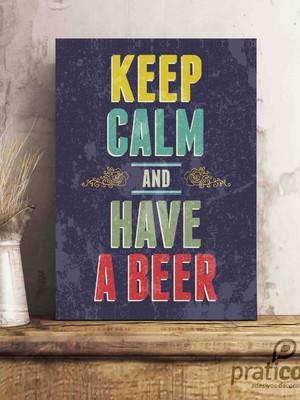 Quadro Decorativo Área de Lazer Cerveja - keep calm beer