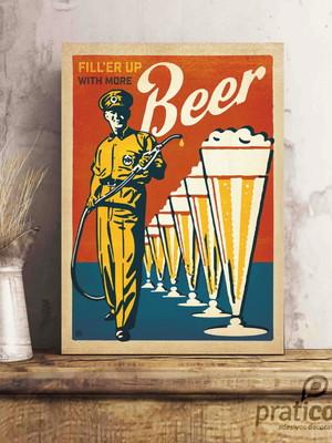 Quadro Decorativo Área de Lazer Cerveja - Beer