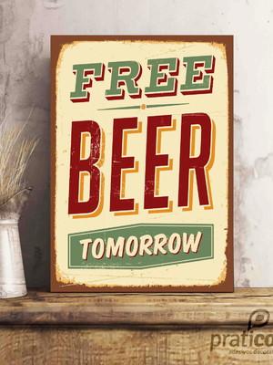 Quadro Decorativo Área de Lazer Cerveja - Free Beer Tomorrow