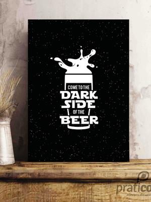 Quadro Decorativo Área de Lazer Cerveja - dark side beer