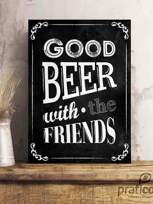 Quadro Decorativo Área de Lazer Cerveja - good beer