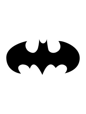 Aplique de EVA Morcego 30cm.