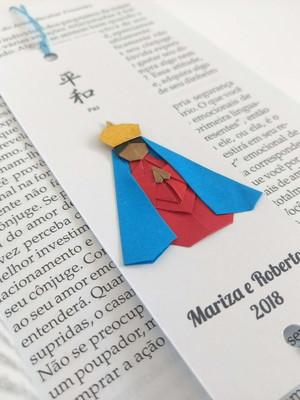 Marcador de origami - Nossa senhora