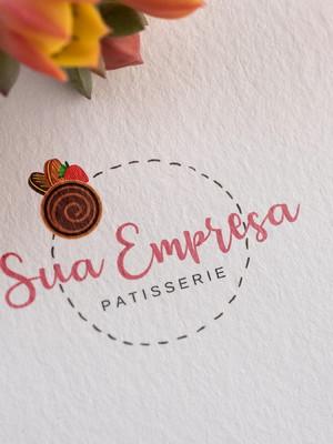 Logotipo Exclusiva Confeitaria/Bolos Pré-criada