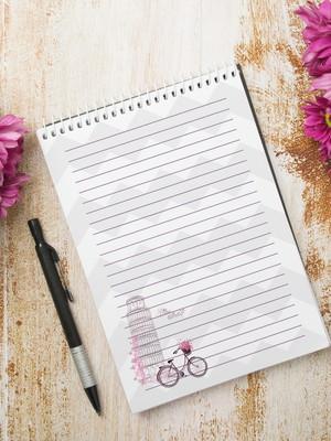 Miolo Digital para Bloco de Anotações - Bicicleta