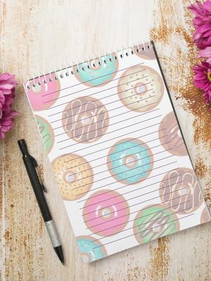 Miolo Digital para Bloco de Anotações - Donuts