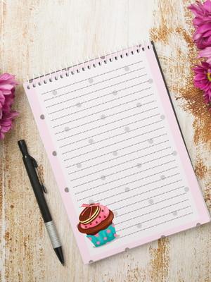 Miolo Digital para Bloco de Anotações - Cupcake