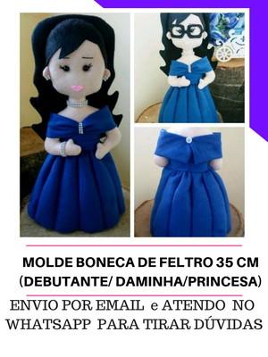MOLDE BONECA DE FELTRO 35 CM