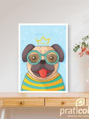 Quadro Decorativo Pet Cachorro Pug