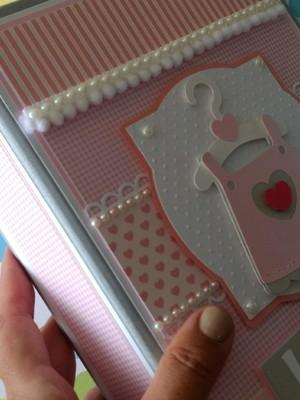 Álbum Personalizado fotos bebê menina scrapbook