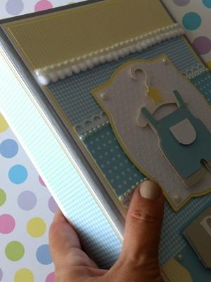 álbum fotos decorado personalizado bebê menino scrapbook