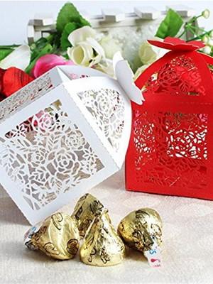 Caixa para lembrança de casamento Floral silhouette