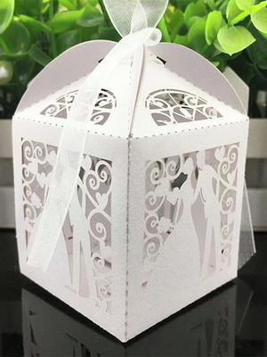 Caixa para bem casado Noivos silhouette