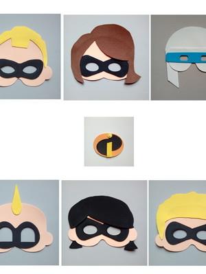 Máscaras para crianças de eva Os Incríveis.