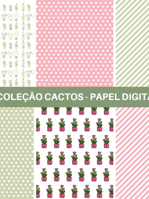 Kit Papel Digital Cactos