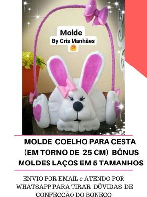 MOLDE COELHO PARA DECORAÇÃO DE PÁSCOA
