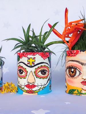 Frida Kahlo   Kit com 3 latas