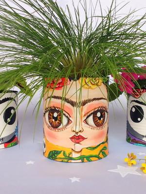 Frida Kahlo | kit com 3 latas