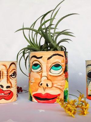 Lata para plantas | releitura James Ensor