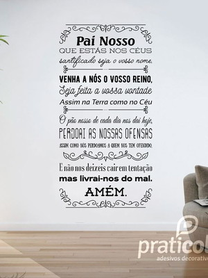 Adesivo de Parede Oração Pai Nosso