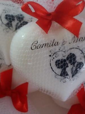 Sabonete personalizado para casamento