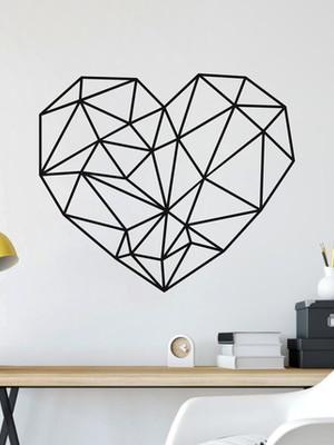 Adesivo de Parede Geométrico Coração