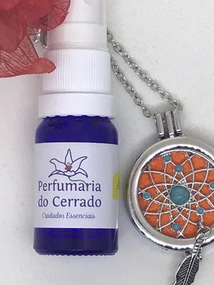 Colar aromatizador mandala e perfume aromatizador 10ml