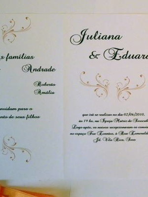 Convite de Casamento - cód A27