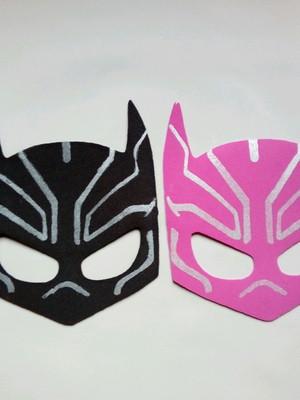 Máscara infantil de EVA Pantera Negra p/ meninos e meninas