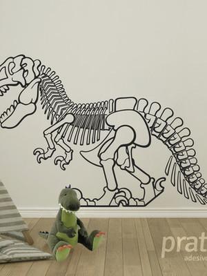 Adesivo de Parede Dinossauro - Esqueleto 125x68 cm