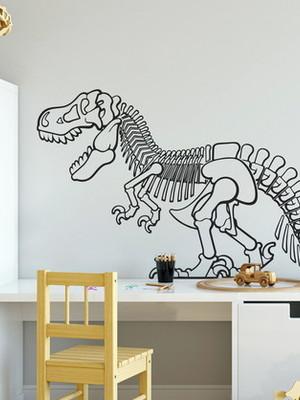 Adesivo de Parede Dinossauro - Esqueleto 100x55 cm