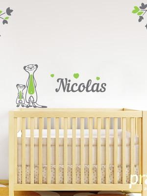 Adesivo de Parede Bichos Savana - Quarto Bebê Menino