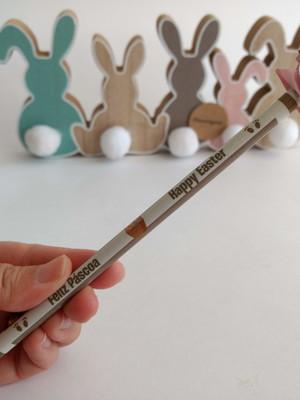 Lápis personalizado com Coelho {Lembrancinha}
